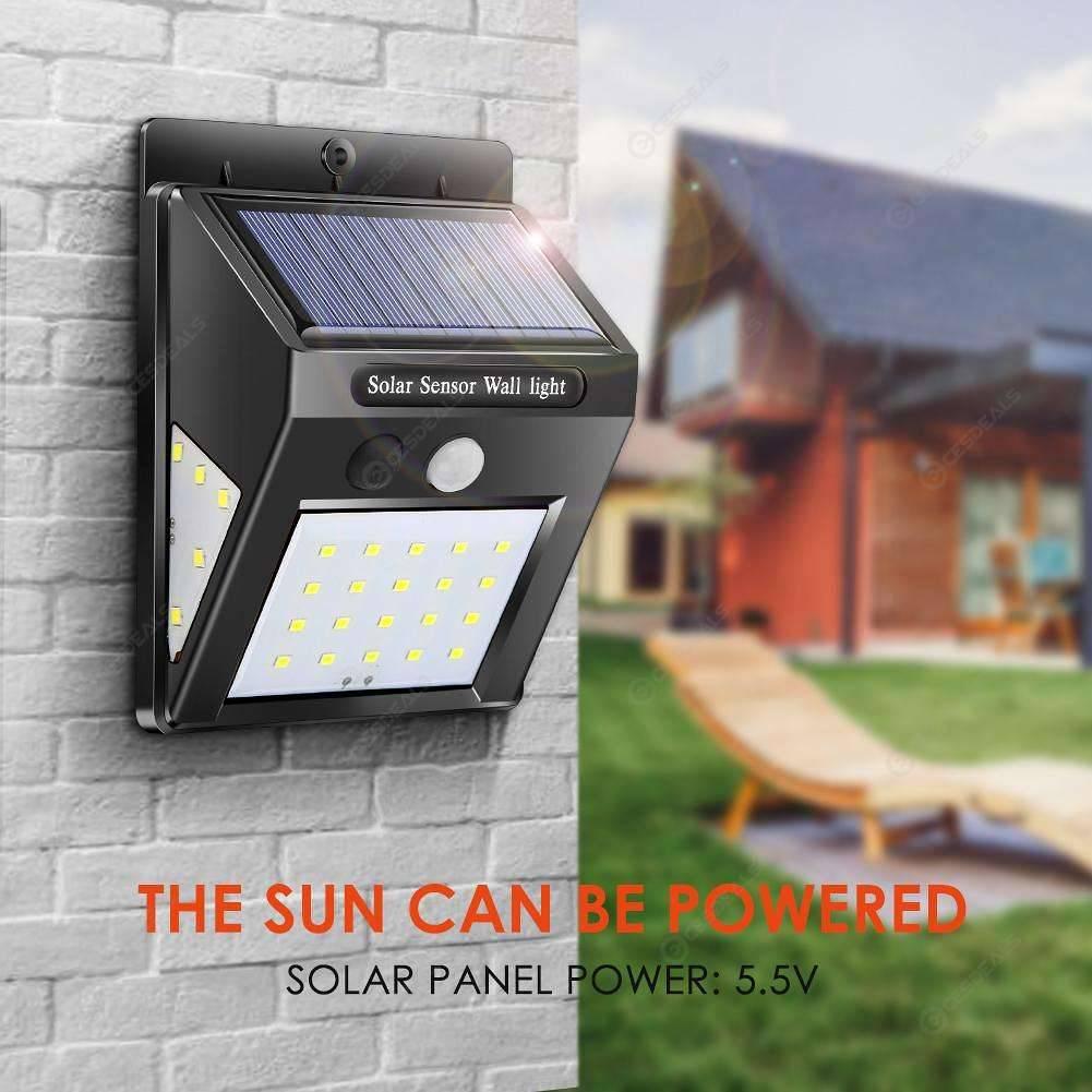 4pcs Solar Lamp Waterproof Motion Sensor Outdoor Garden Wall Light (30LED)