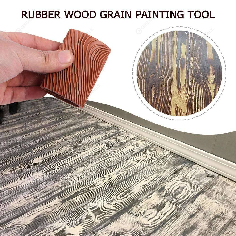 Rubber Wood Grain Graining Pattern Wall Paint Diy Painting Tool Home Decor Us 2 66 Online Shopping Cesdeals Com