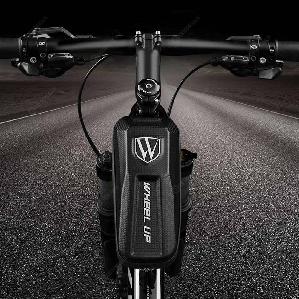EVA Waterproof Bicycle Front Tube Bag Mesh Double Zipper Front Beam Package