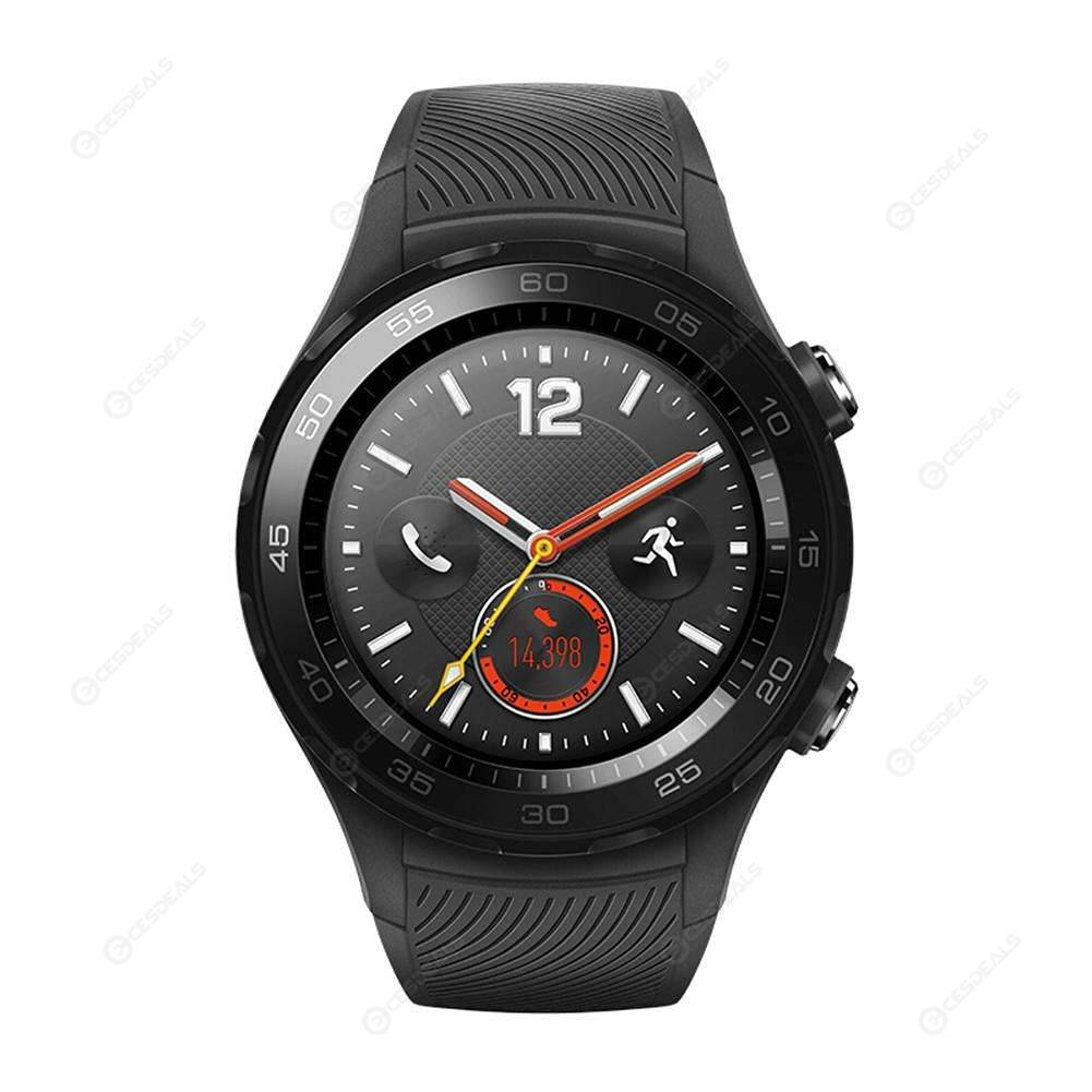 Huawei Watch 2 4G IP68 SIM Card Heart Rate NFC GPS Smartwatch (Black)