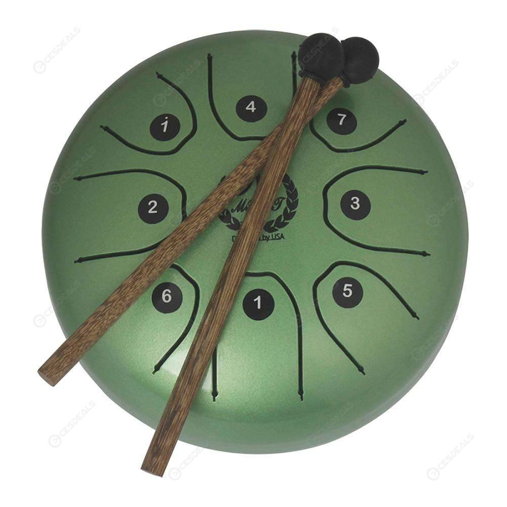 5 5 inch Stainless Steel Tongue Drum Set Hand Pan Tank Drum (Green