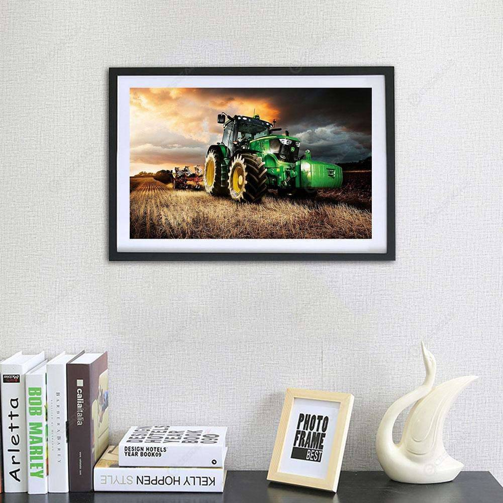 5D DIY Full Drill Square Diamond Painting Tractor Cross Stitch Embroidery