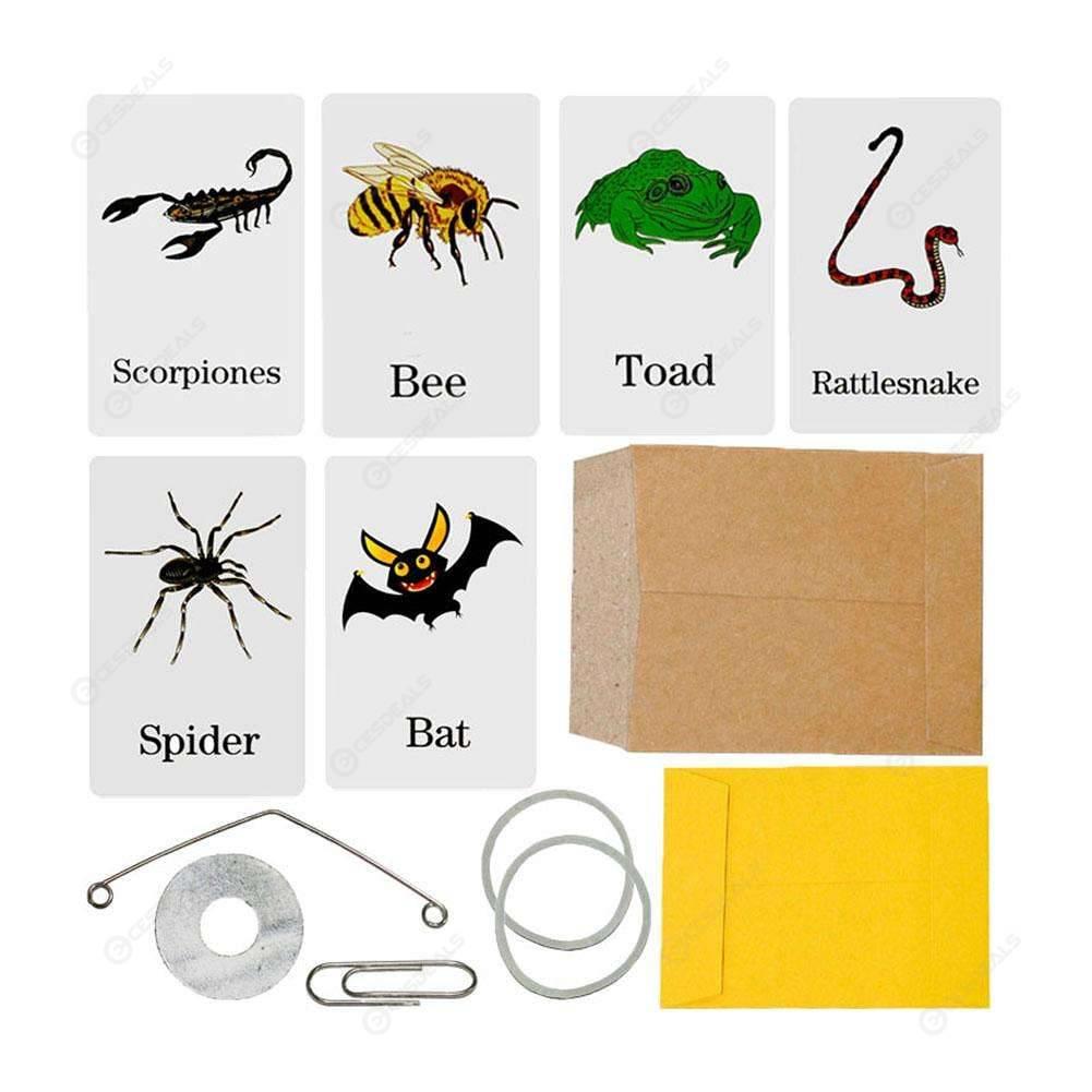 Animal Prediction Cards Prophecy Envelop Close Up Magic Trick Prank Props