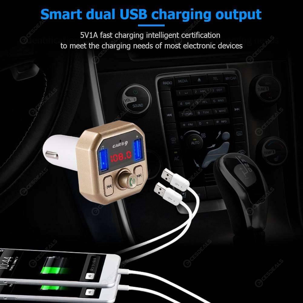 Bluetooth Car USB Charger FM Transmitter Radio Adapter MP3 Player 12V-24V ABS