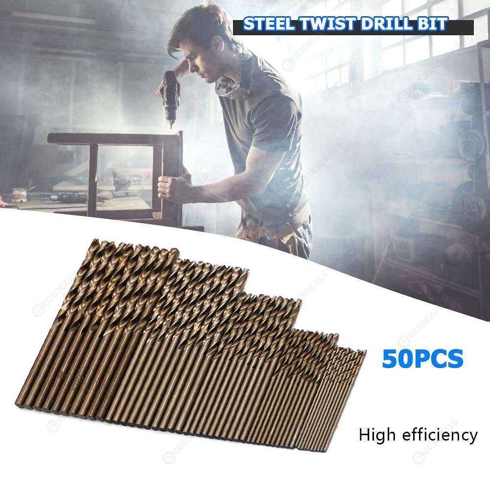 50pcs Cobalt Drill Bits for Metal Wood Working M35 Steel Twist Drill Bit