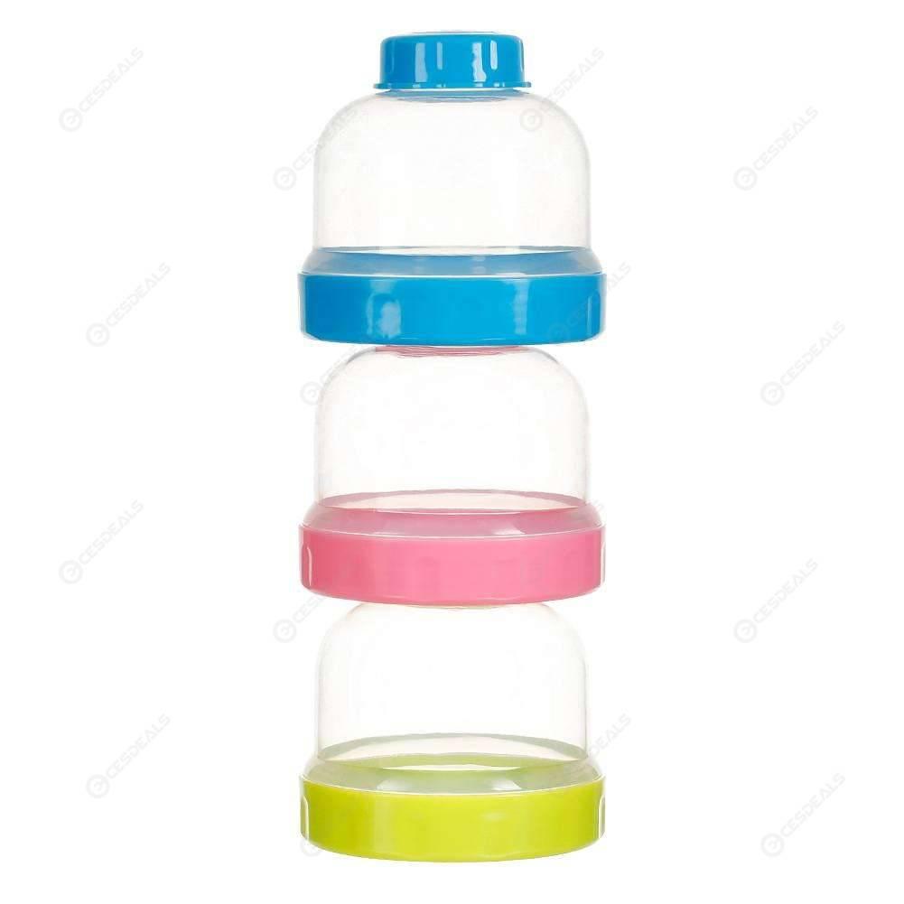 Food 3 Grid Portable Baby Feeding Bottle Container Milk Powder Box Storage