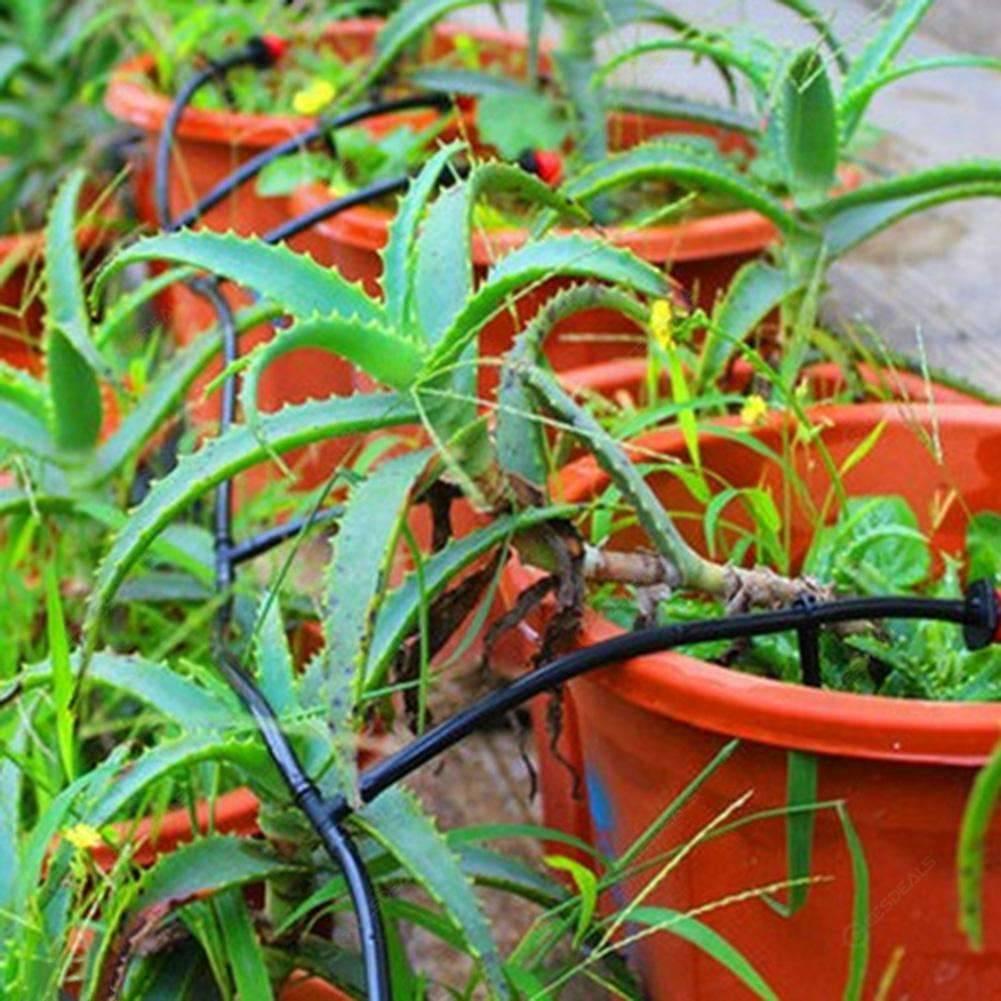 15m Fai Da Te Goccia Irrigazione Sistema Automatico Irrigazione Giardino Gocciolatore Micro Kit