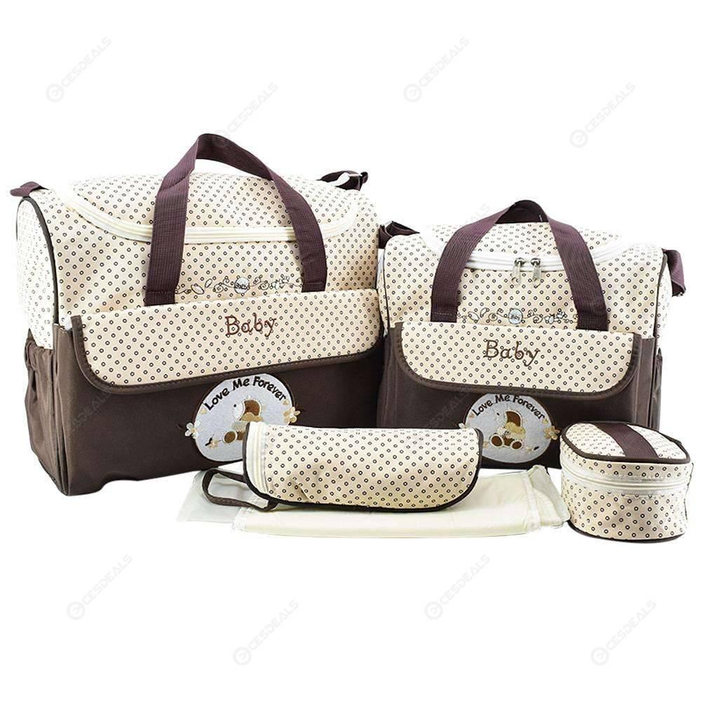 5Pcs Milk Bottle Storage Holder Baby Diaper Bag For Stroller WST