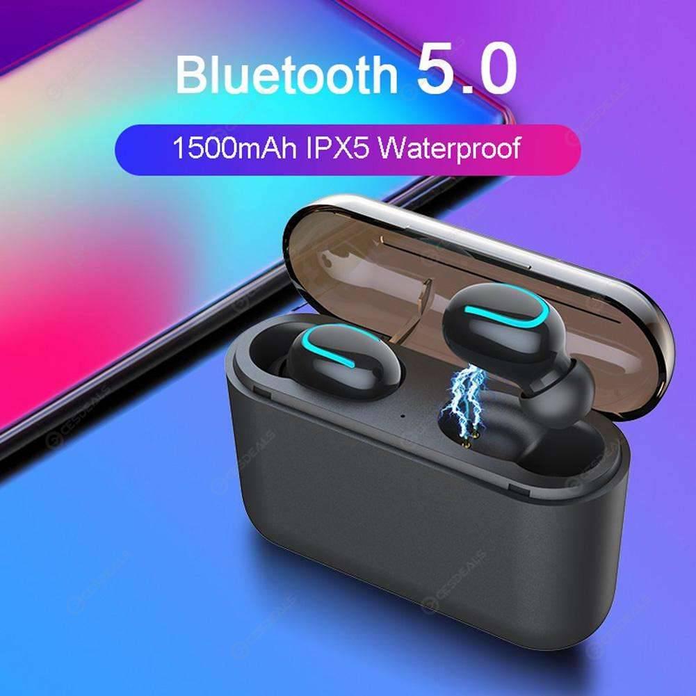 TWS-Q32 Bluetooth Earphone Stereo Sports Earbuds Wireless Headsets (Black)