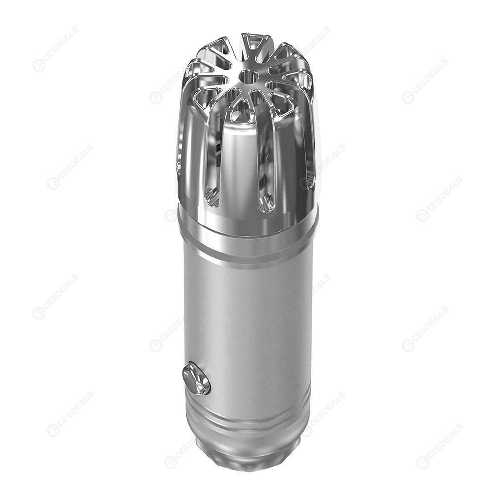 Car Air Purifier Ionizer Air Cleaner Air Freshener Odor Eliminator (Silver)