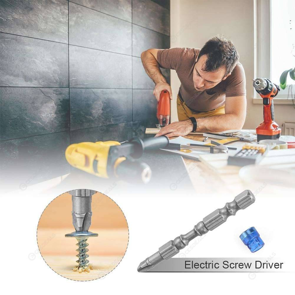 10pcs PH2 Magnetic Screwdriver Bit Anti Slip Electric Screw Driver (Blue)