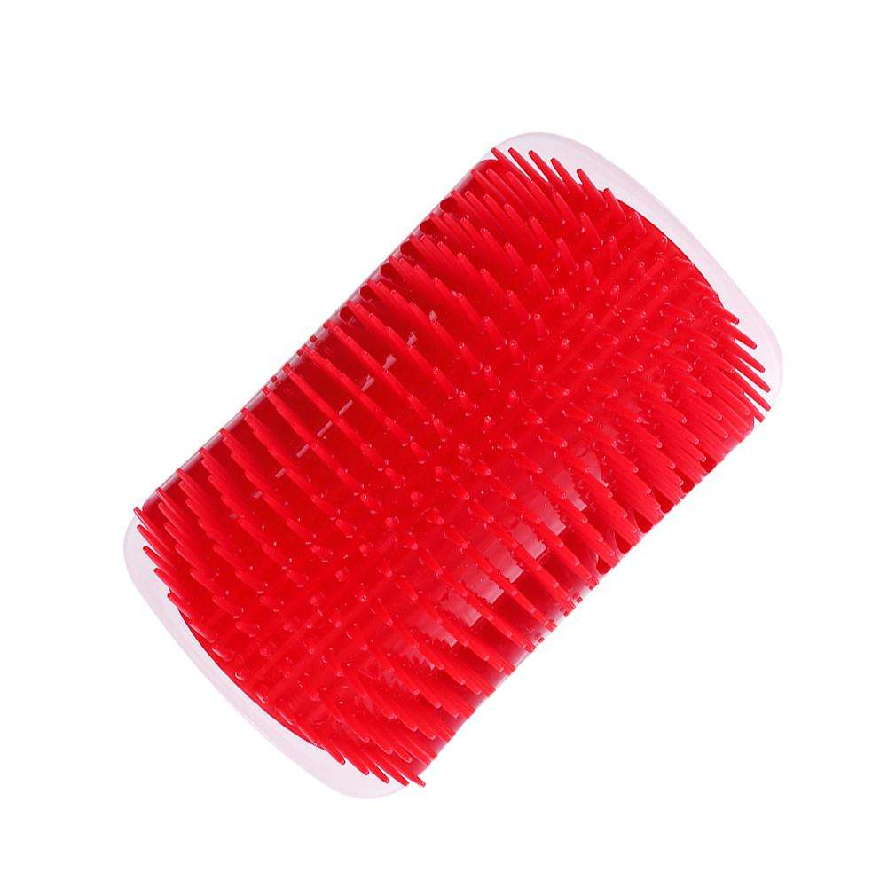 Pet Cat Hair Removal Comb Dog Hair Shedding Brush Grooming Tool (Red)