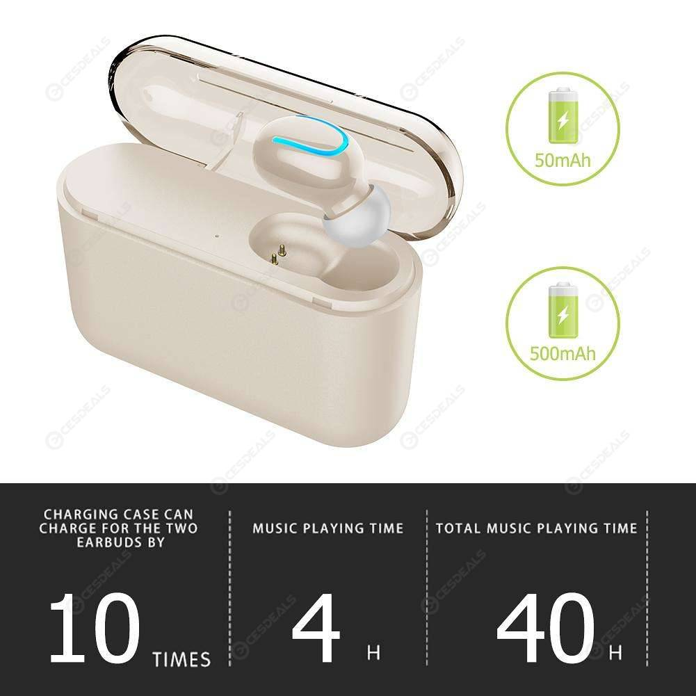 Wireless Q32 Bluetooth V5.0 Single Ear Headset with Charging Bin (Colorful)