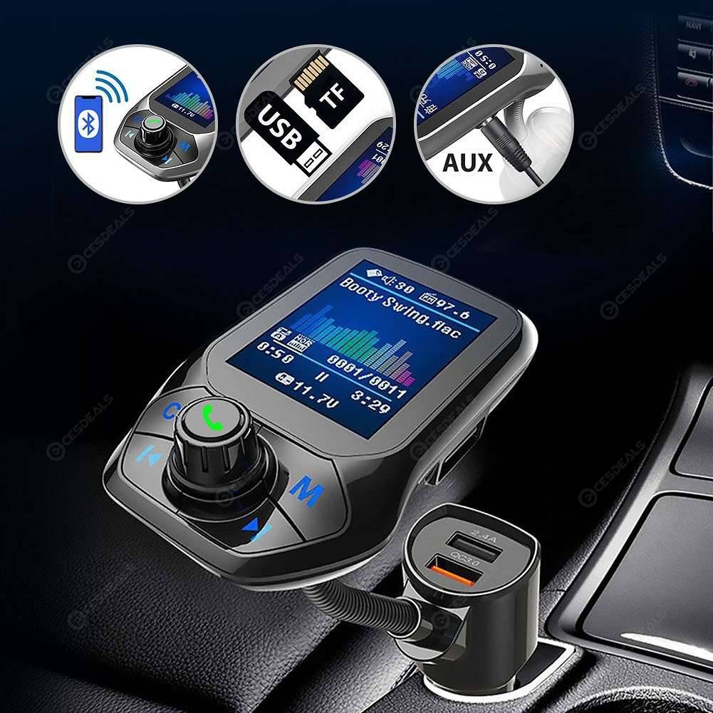 Car MP3 Player Bluetooth Handsfree Call FM Transmitter QC3 0 Fast Charger