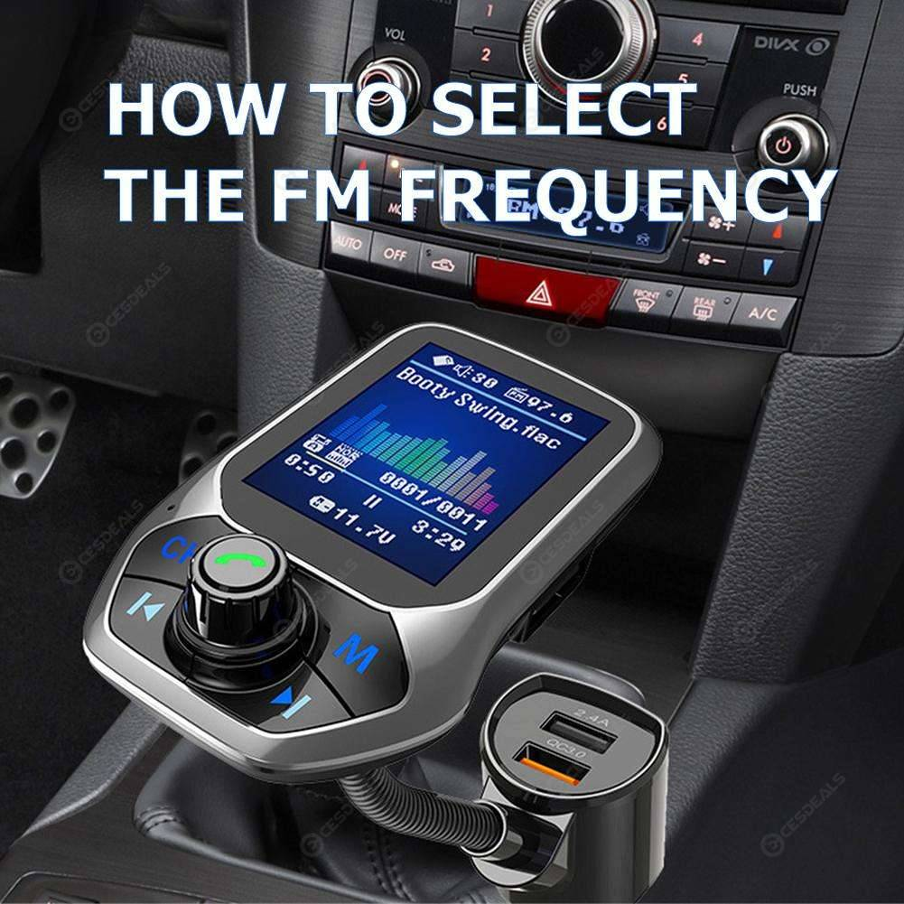 For Cellphone Bluetooth Fast Charger Hands-Free Calling MP3 Player Car Player