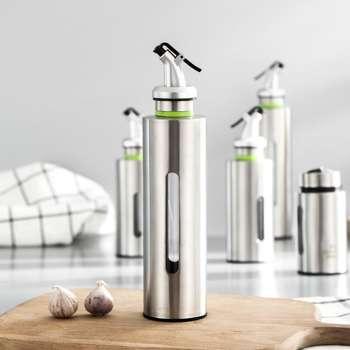 Stainless Steel Oil Bottle Kitchen Seasoning Storage Dispenser (250ML)