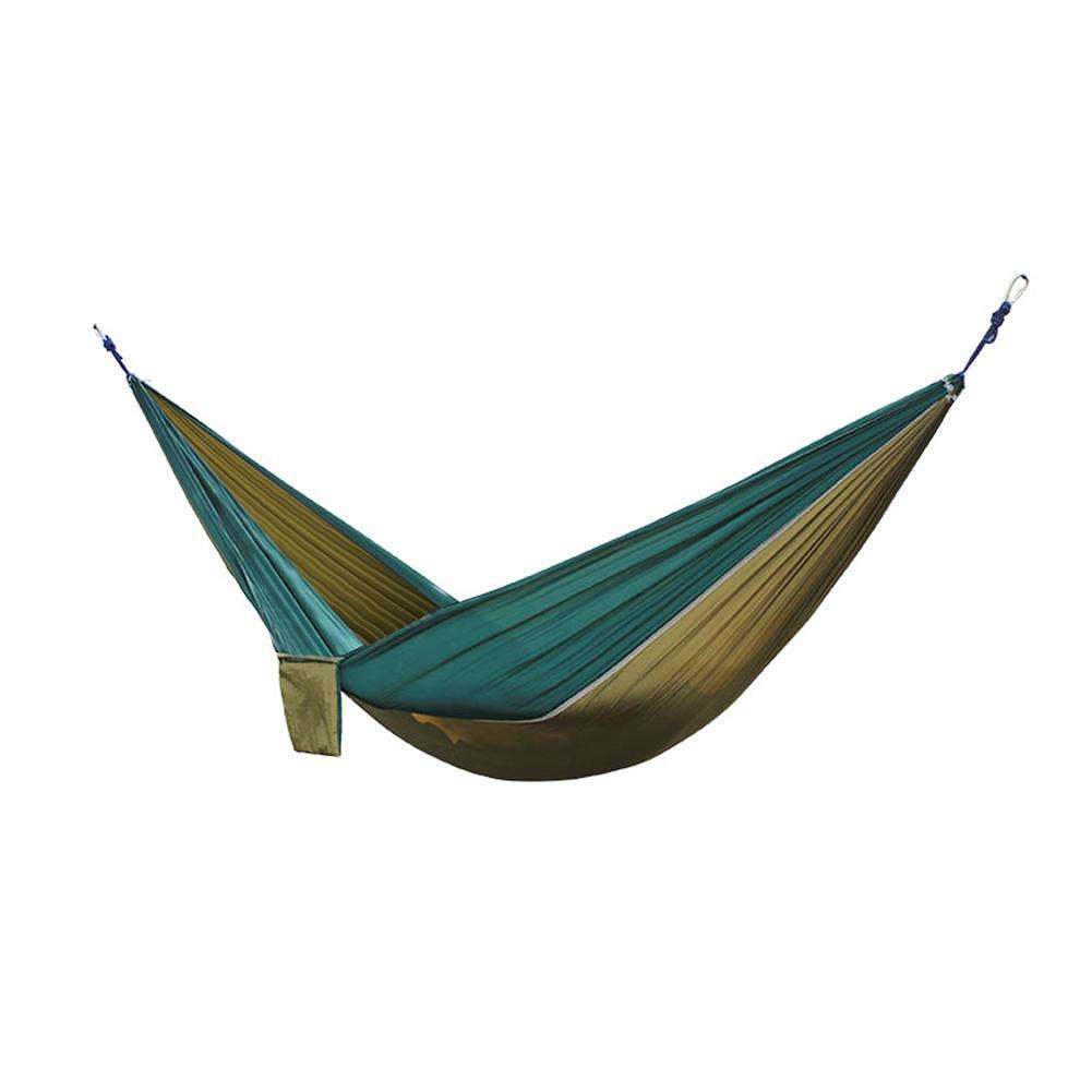 Kitchen Bar Greenside: Nylon Double Person Hammock Adult Sleeping Bed (Camel With