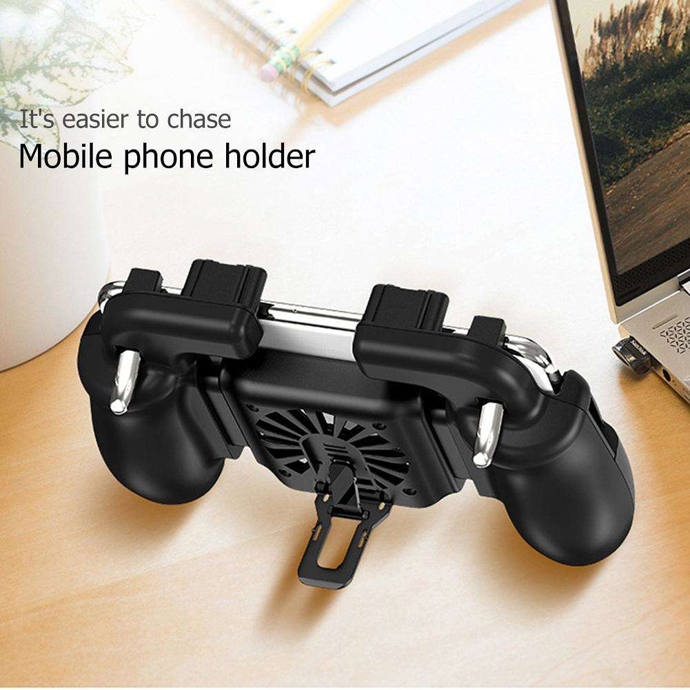 H5 Mobile Gamepad Controller Trigger Fire Buttons with Cooling Fan for PUBG