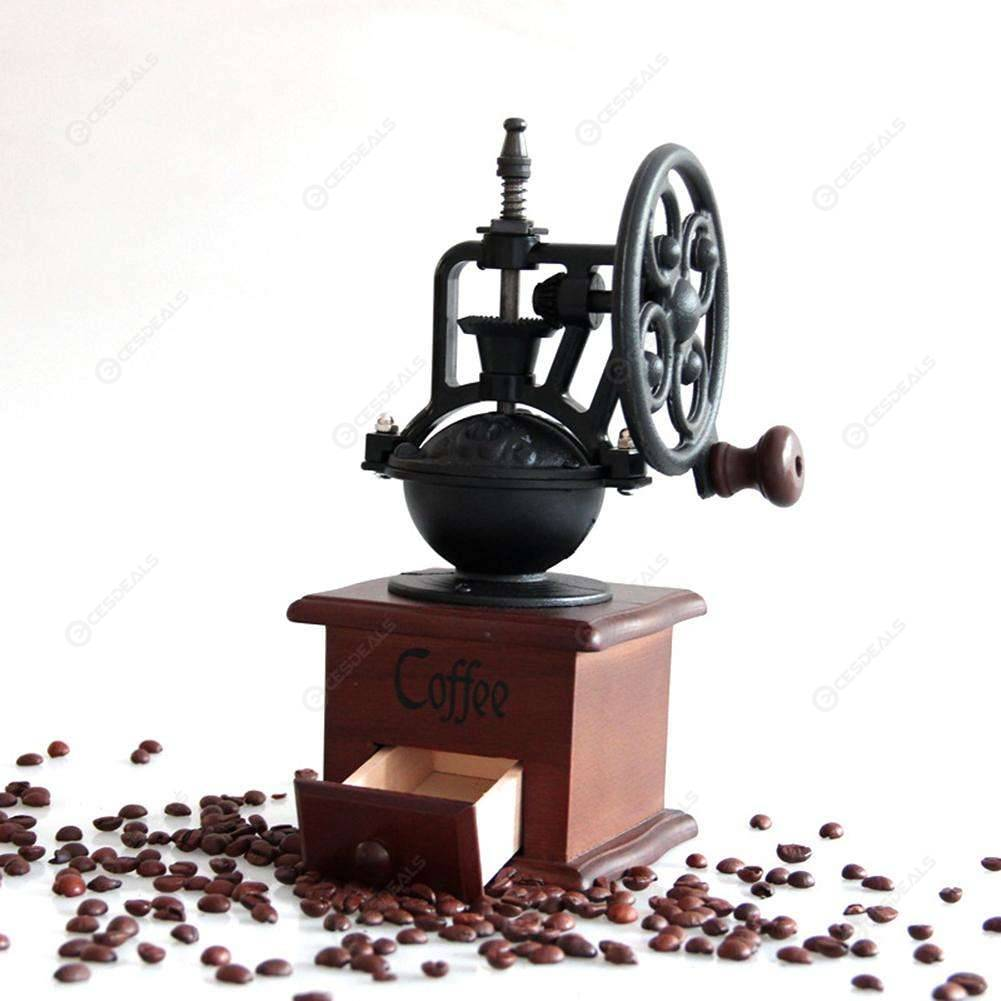 Vintage Retro Manual Coffee Grinder Ferris Wheel Hand Crank Coffee Maker, 501 Original