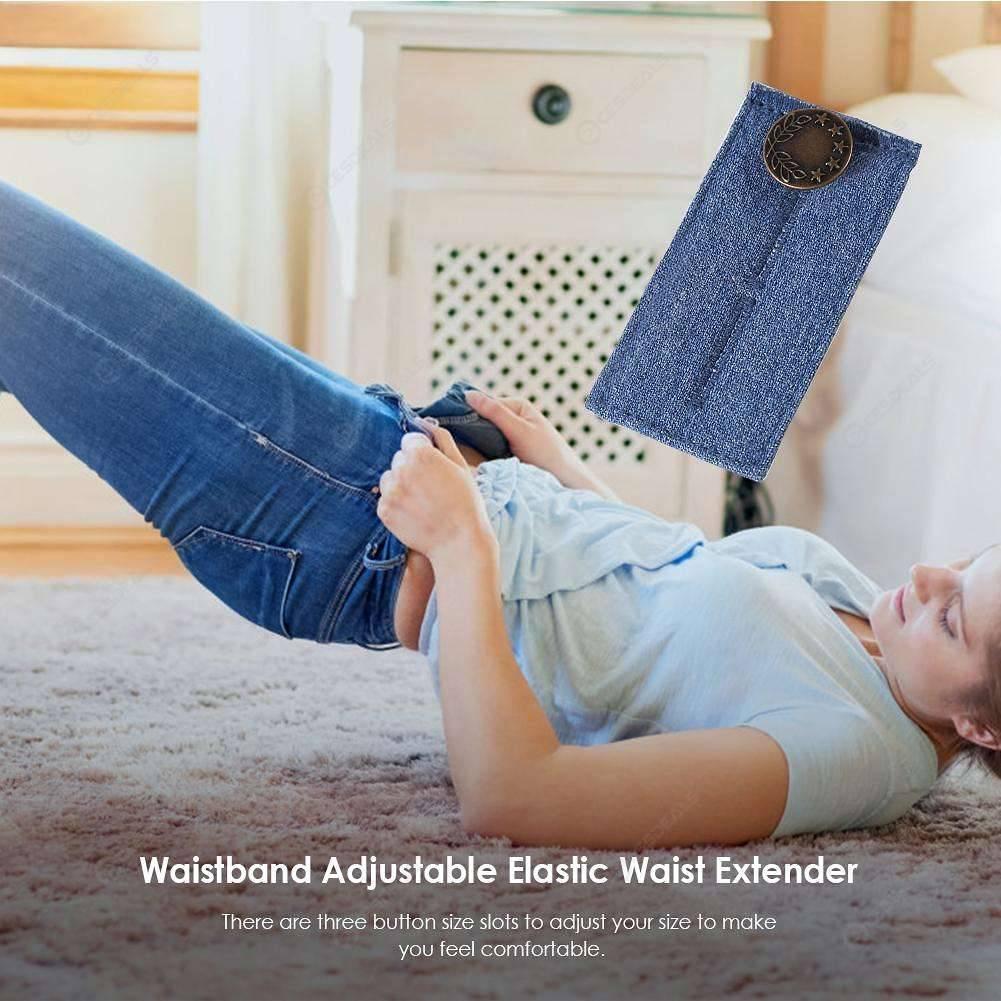 Elastic Waist Extenders Strong Adjustable Pants Button Extenders Comfy Jeans UK