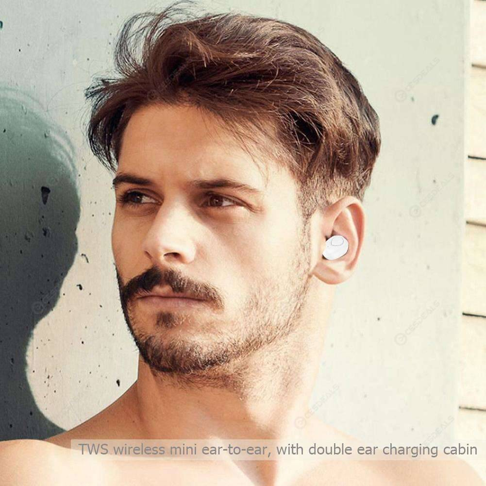 X18 Mini TWS Bluetooth Earbuds Stereo Earphones with Charging Box (White)