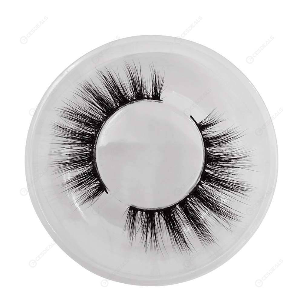 229dd6da42a 1pair 3D Mink False Eyelashes Natural Extension Fake Curly Thick Lashes(40S  ...
