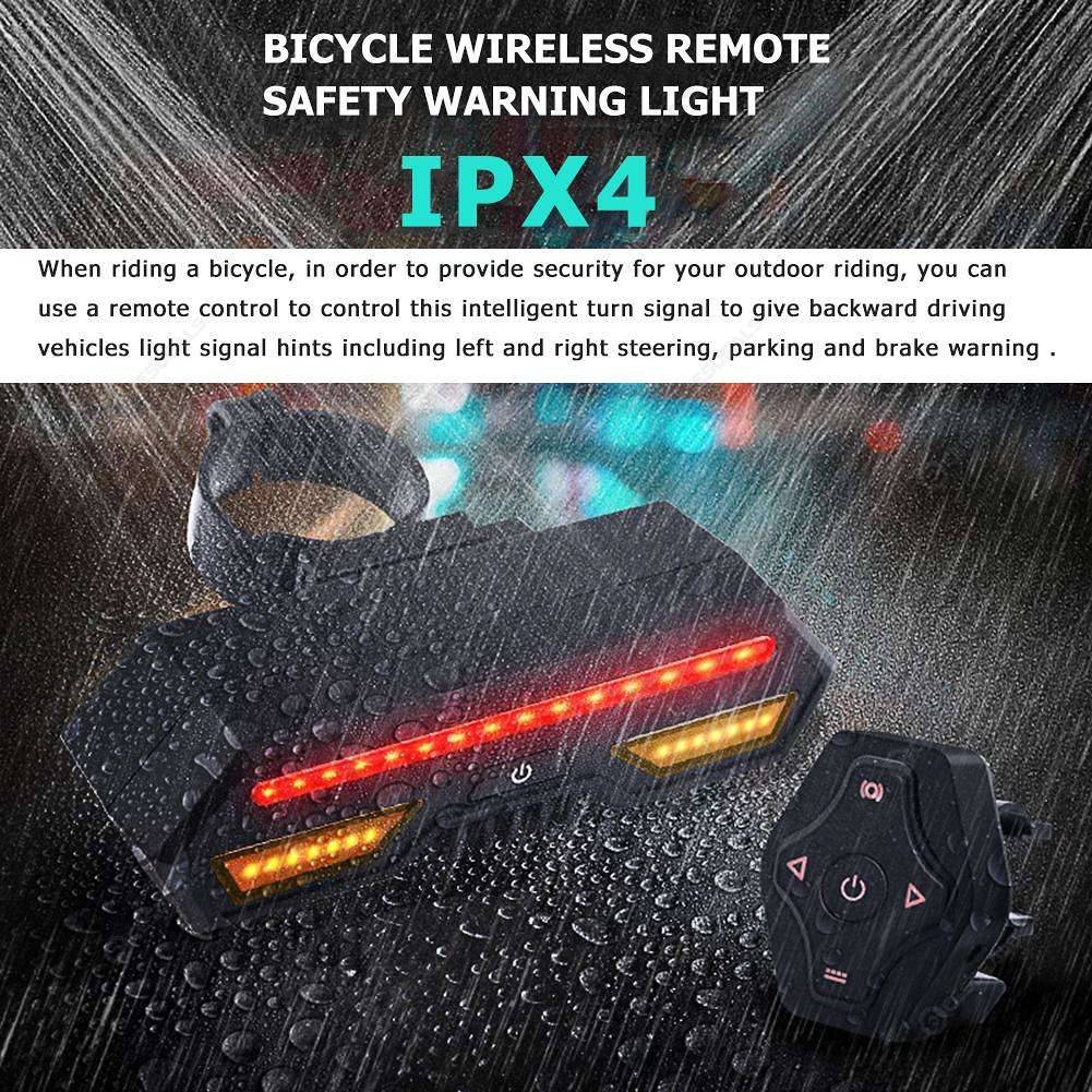 Rechargeable USB 15LED Bicycle Bike Night Ride Rear Light Warning Taillight Lamp