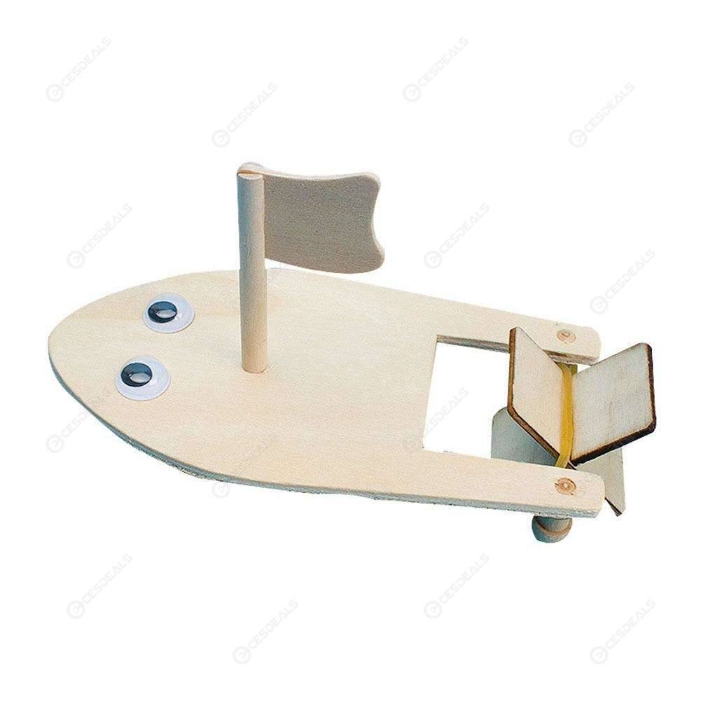Diy Wooden Sailboat Model Kit Kids Physical Science Experiments Toy