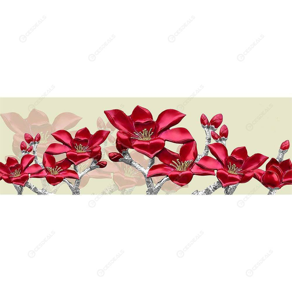 5D DIY Full Drill Diamond Painting Red Flowers Cross Stitch Embroidery Kits //ND