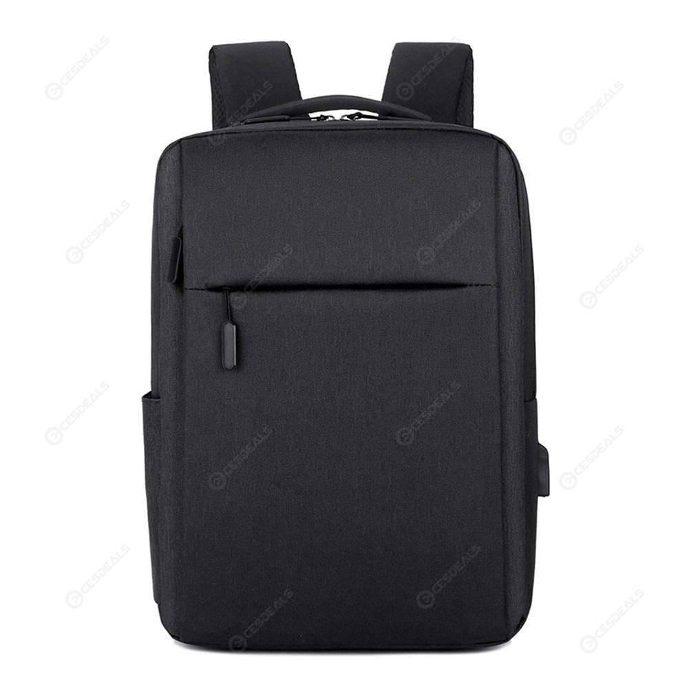 d0696c21db3c 15.6inch Laptop Men Backpacks Business Square Backpack Rucksacks (Black