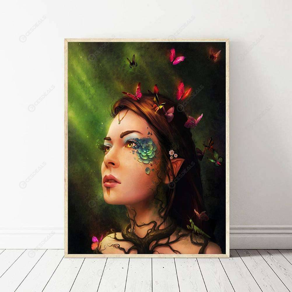 Full Drill Beauty Butterfly DIY 5D Diamond Painting Embroidery Cross Stitch Art