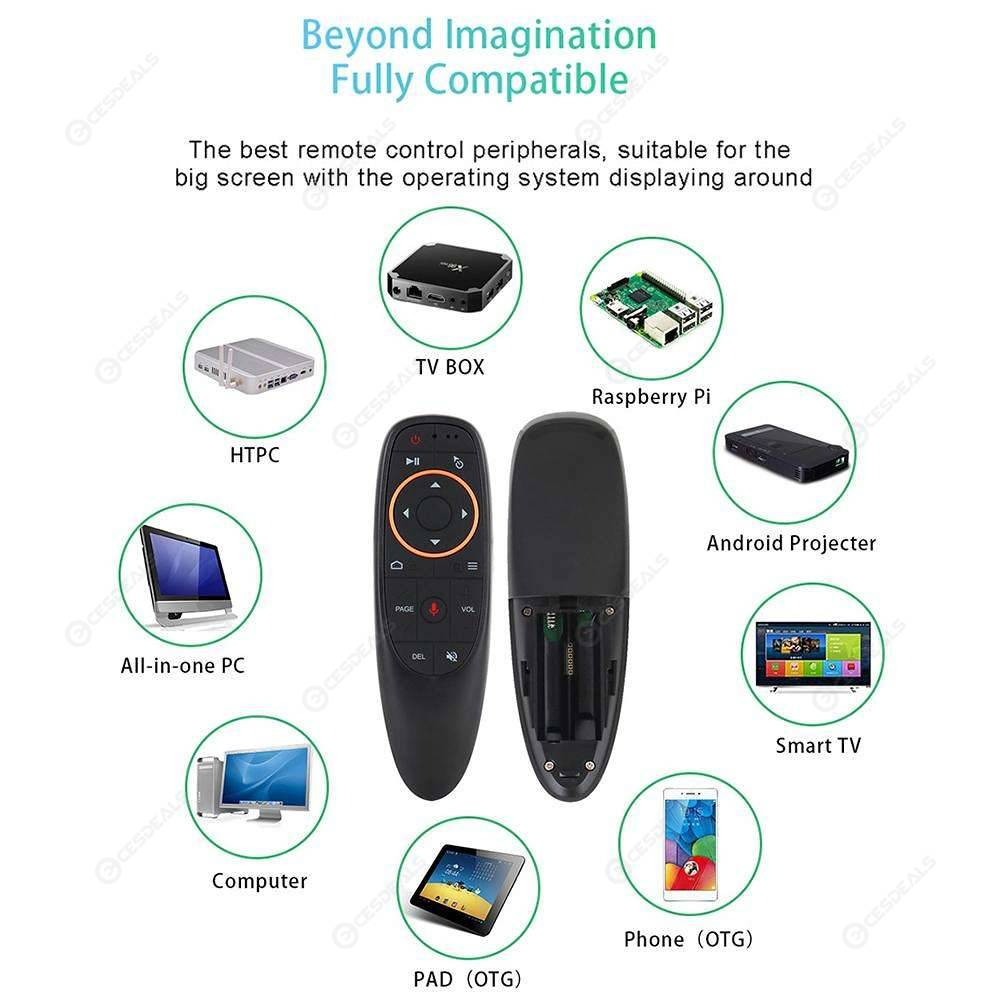 G10 Remote Control 2 4G Wireless Air Mouse for Android TV Box (Voice+Gyro)