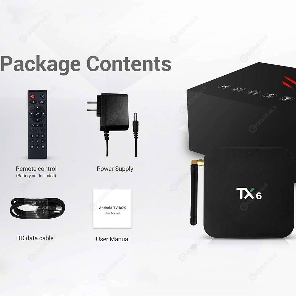 TX6 Android 9 0 TV Box Allwinner H6 Quad Core 4G+32GB WIFI BT Set Top Box
