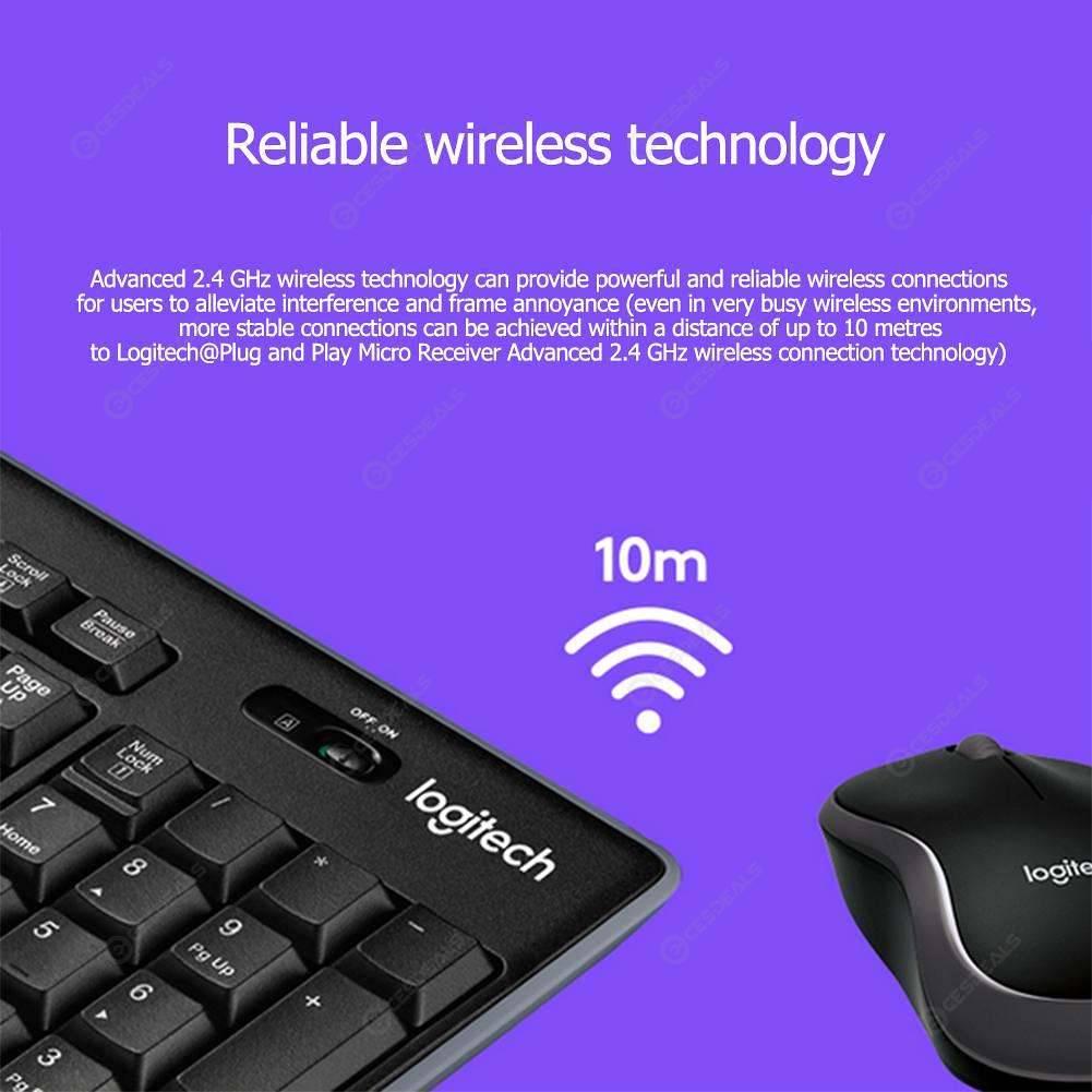 Logitech MK270 2 4G Wireless Mouse+ Keyboard Combo Set for Desktop Laptop