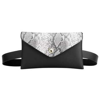 Snake Shoulder Waist Bags Fanny Belt Packs Women Flap Chest Bags (Grey)