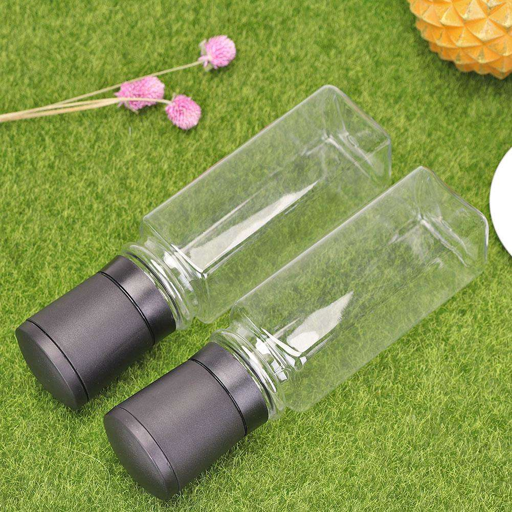 3f05d57e66dd 2pcs Plastic Pepper Rose Salt Mill Seasoning Grinding Bottle Grinder (B)