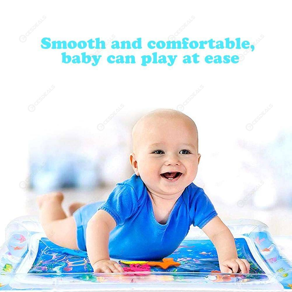 Baby Kids Water Play Mat Inflatable Infants Tummy Time Playmat Toy