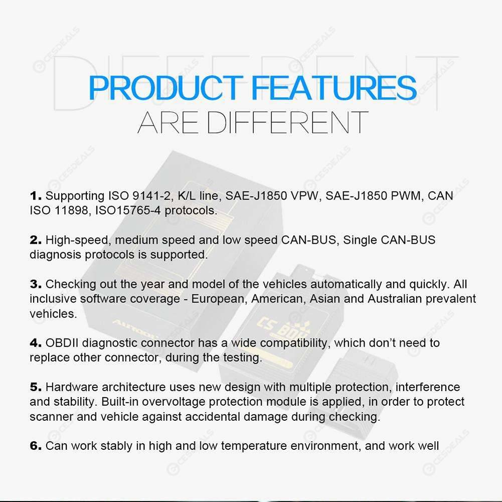 AUTOOL CS BOX WiFi OBDII Car Diagnostic Tool Fault Code Reader for Android