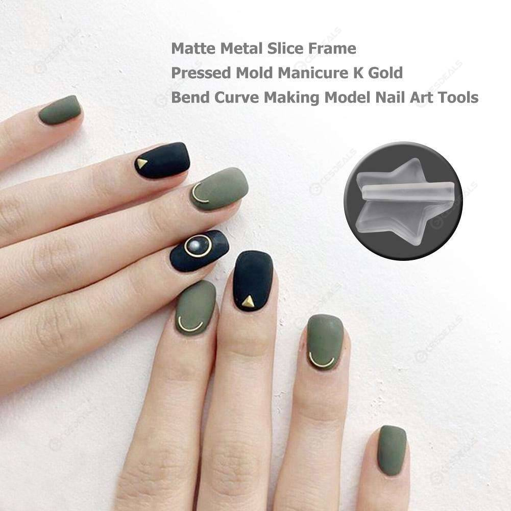 Matte Metal Frame Bend Pressed Mold Manicure Model Nail Art Tools ...