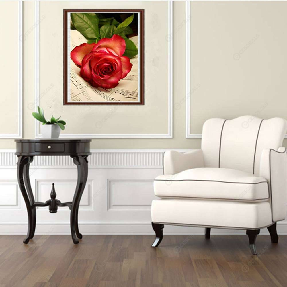 5D DIY Diamond Painting Rose Flower Cross Stitch Embroidery Rhinestones Kit