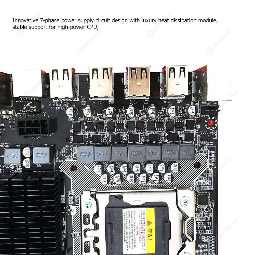 X58 Pro Desktop Motherboard with LGA 1366 Socket for L5506 W3503 EC3539