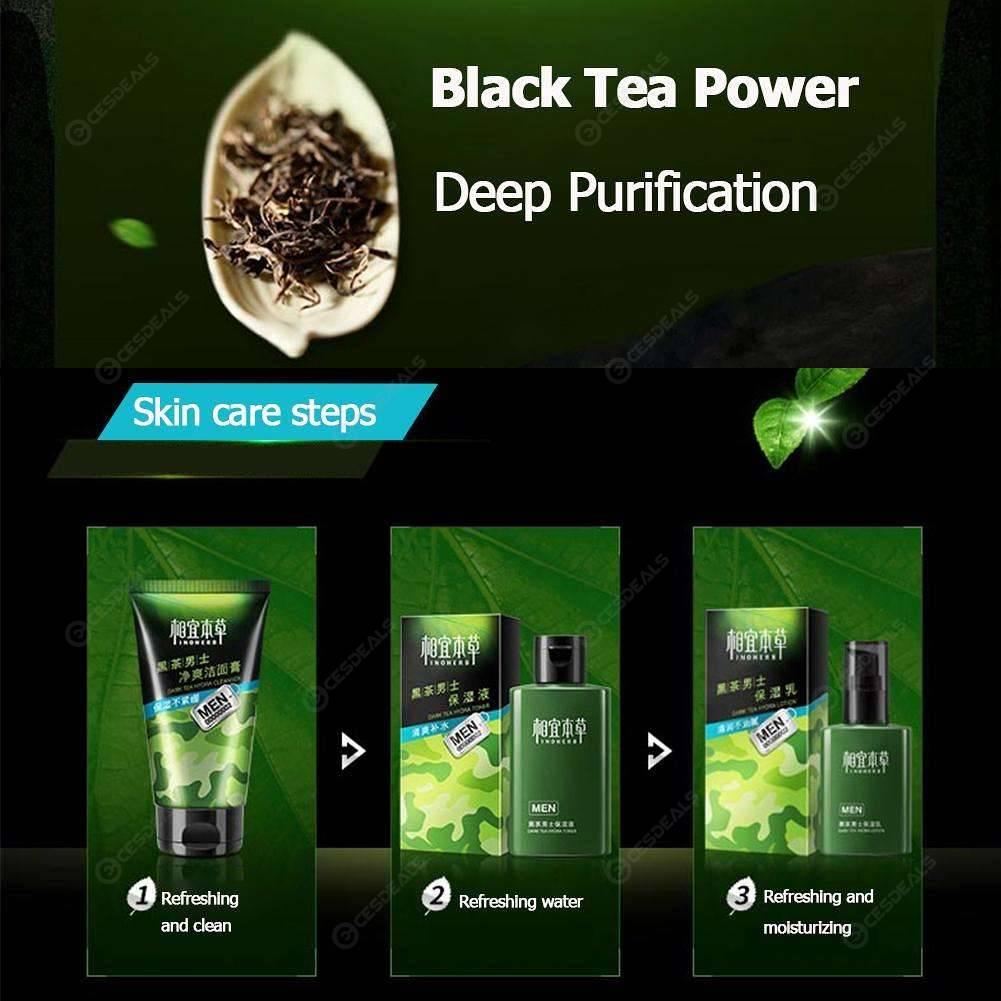 INOHERB Men Moisturizing Black Tea Face Cream Oil-Control Skin Care Cleaner