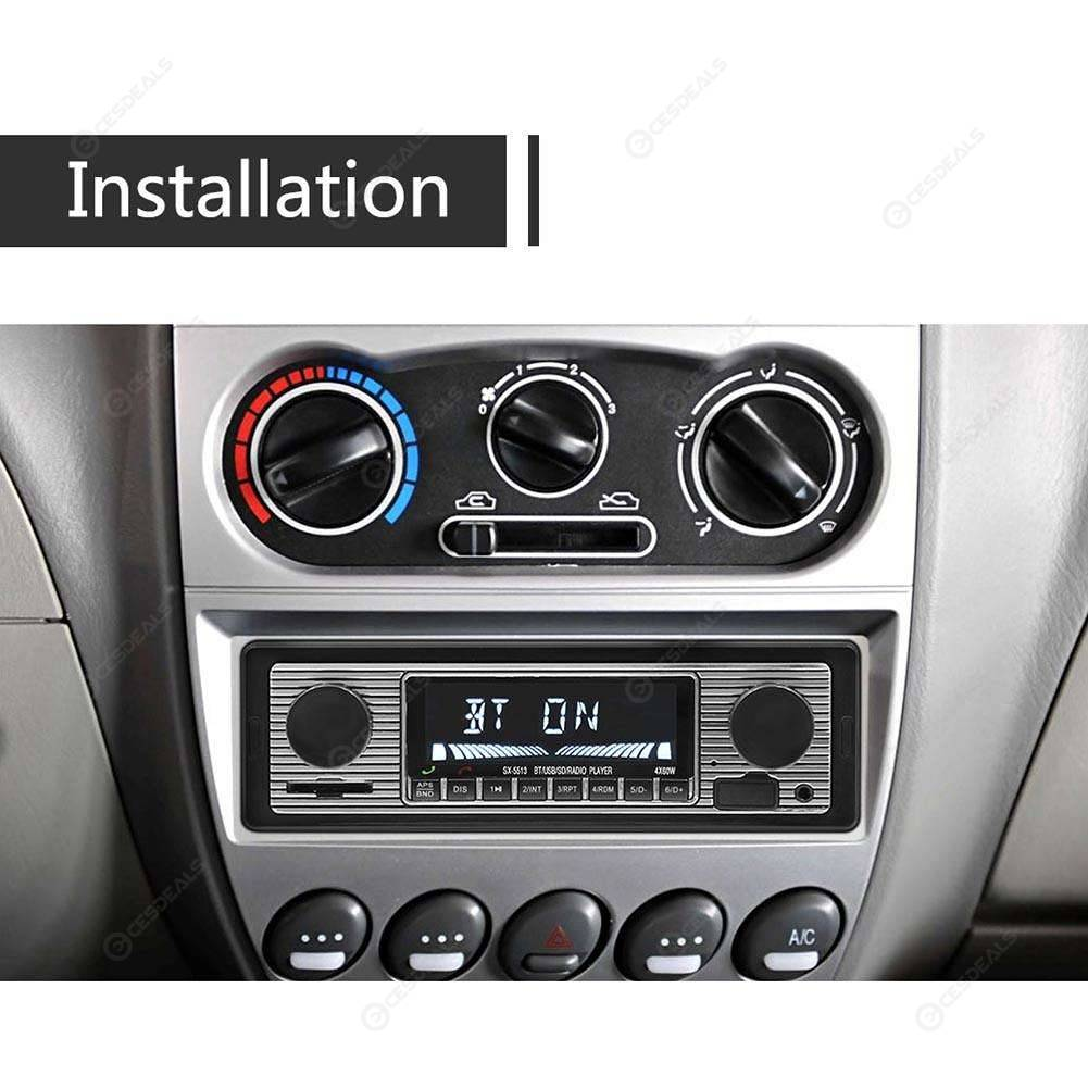 SWM 5513 LCD Car Stereo MP3 Player FM Radio Bluetooth 4 0 USB AUX Input
