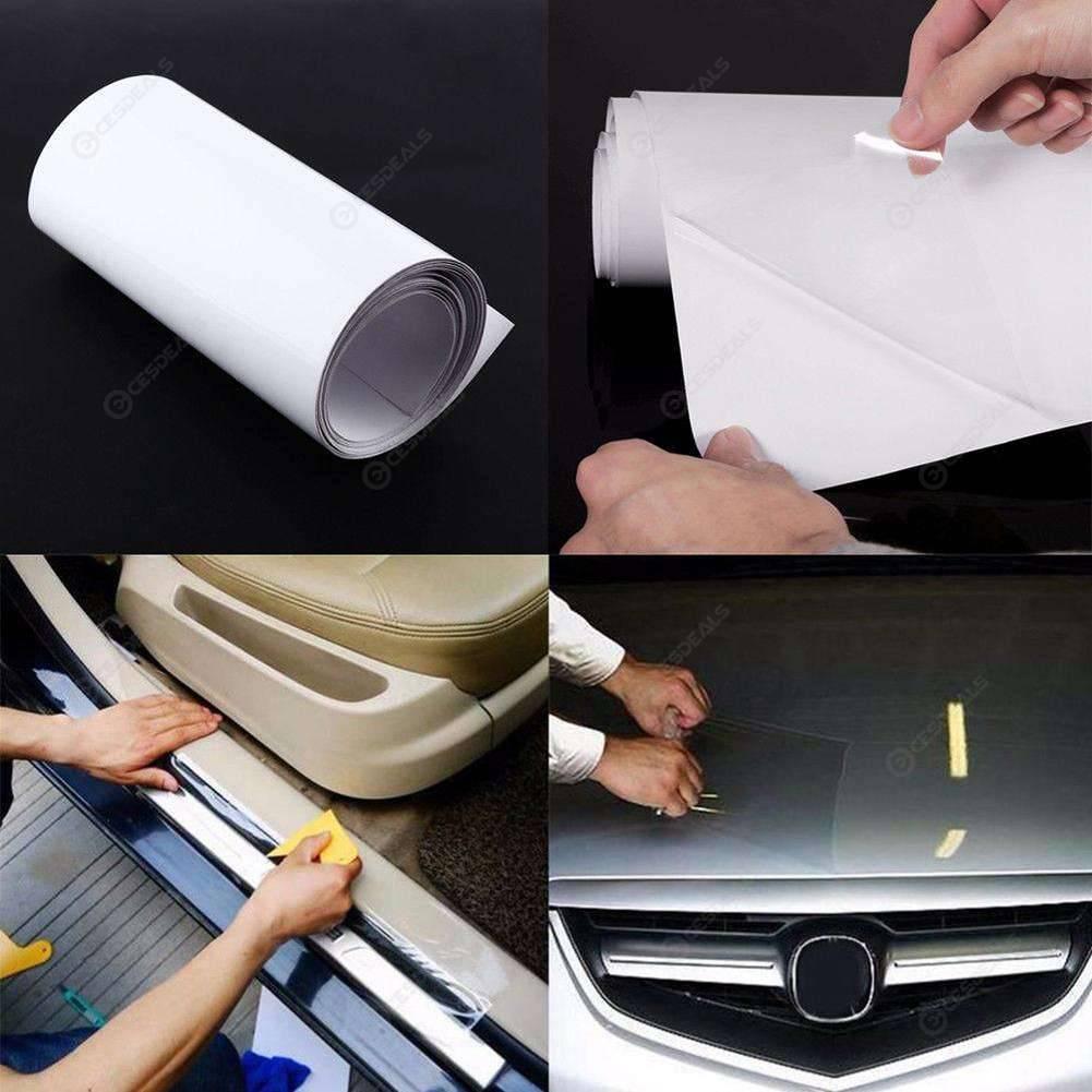 10x300cm Rhino Skin Car Bumper Hood Paint Protection Sticker Clear Film