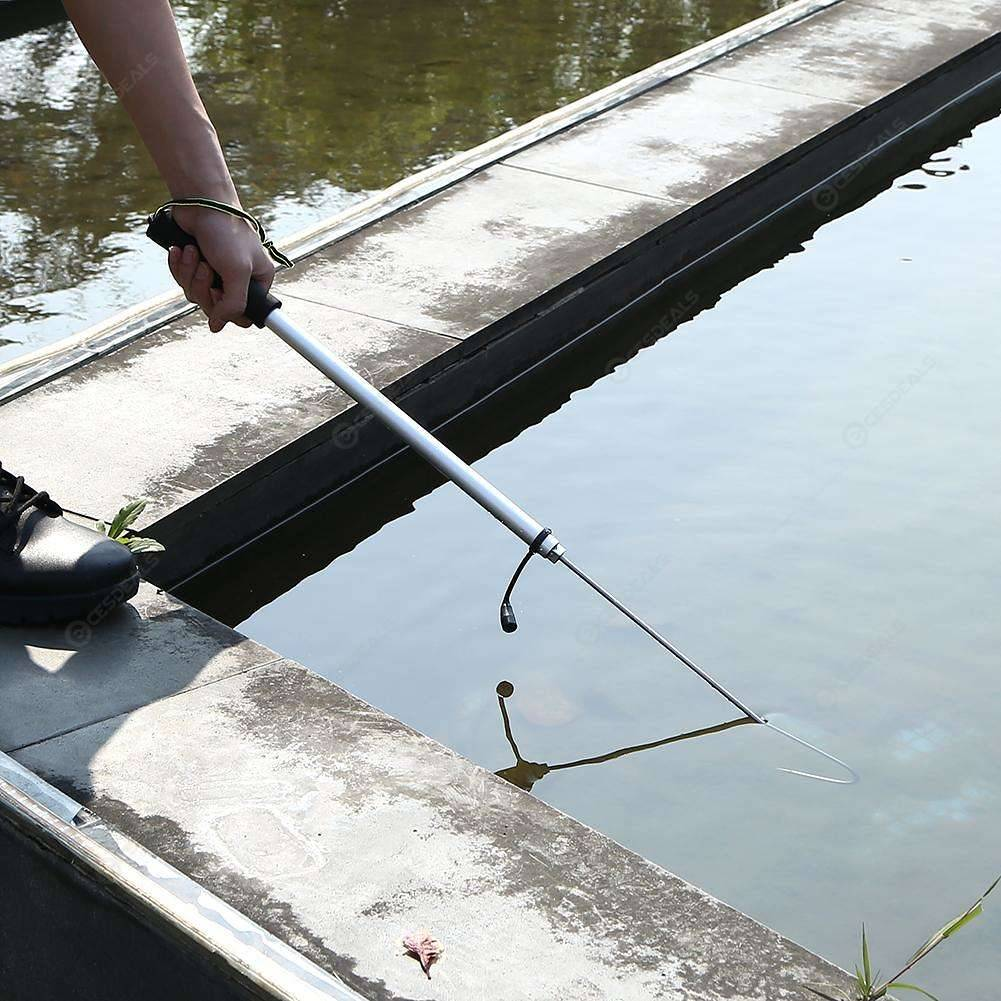 Outdoor Stainless Steel Flexible Fishing Gaff Holder Spear Hook (60cm)