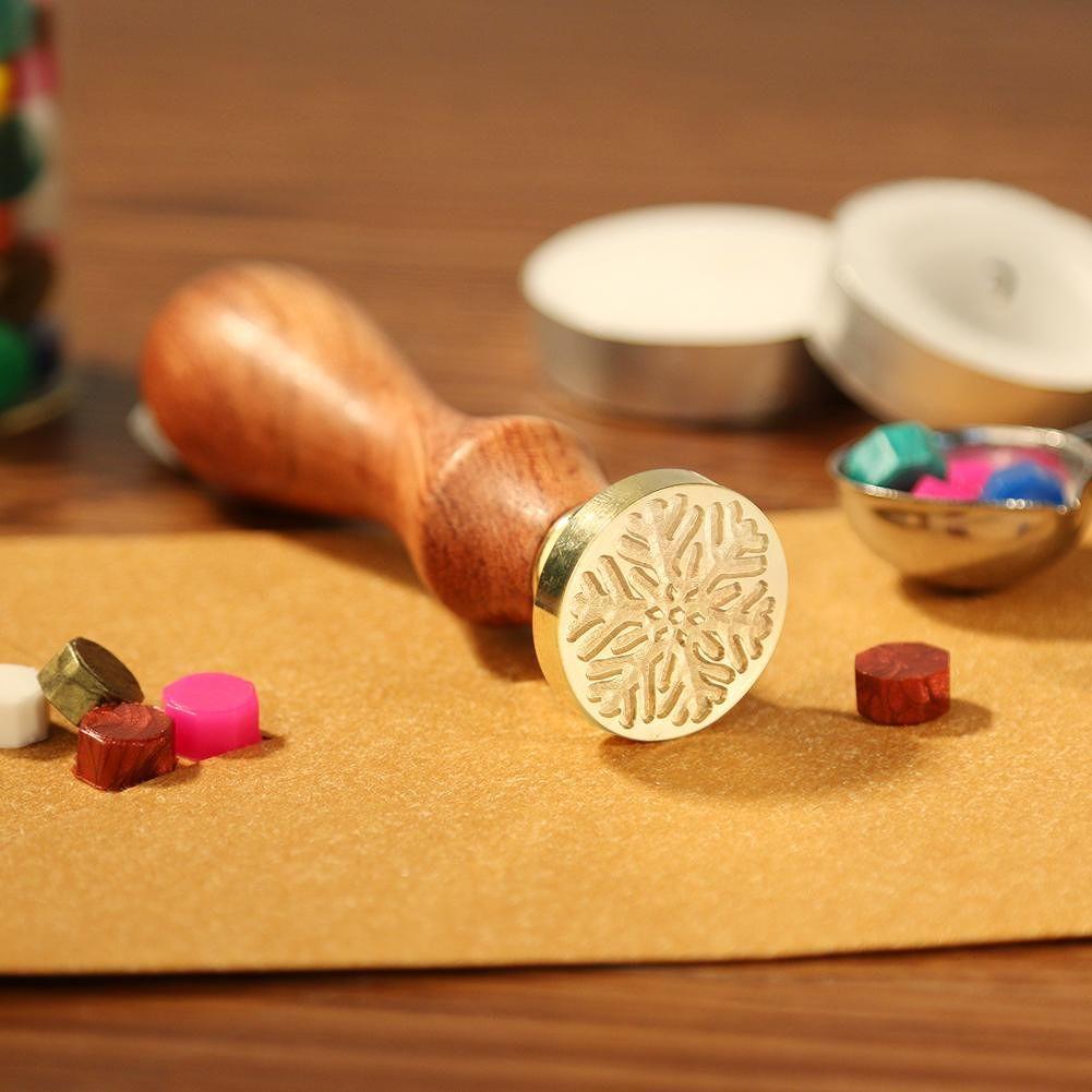 Christmas Halloween Antique Wooden Handle Metal Sealing Wax Stamps (F066)