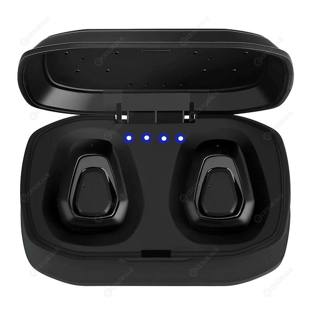 A7 TWS Wireless Bluetooth Earphones Earbuds Headset w/Charging Box (Black)