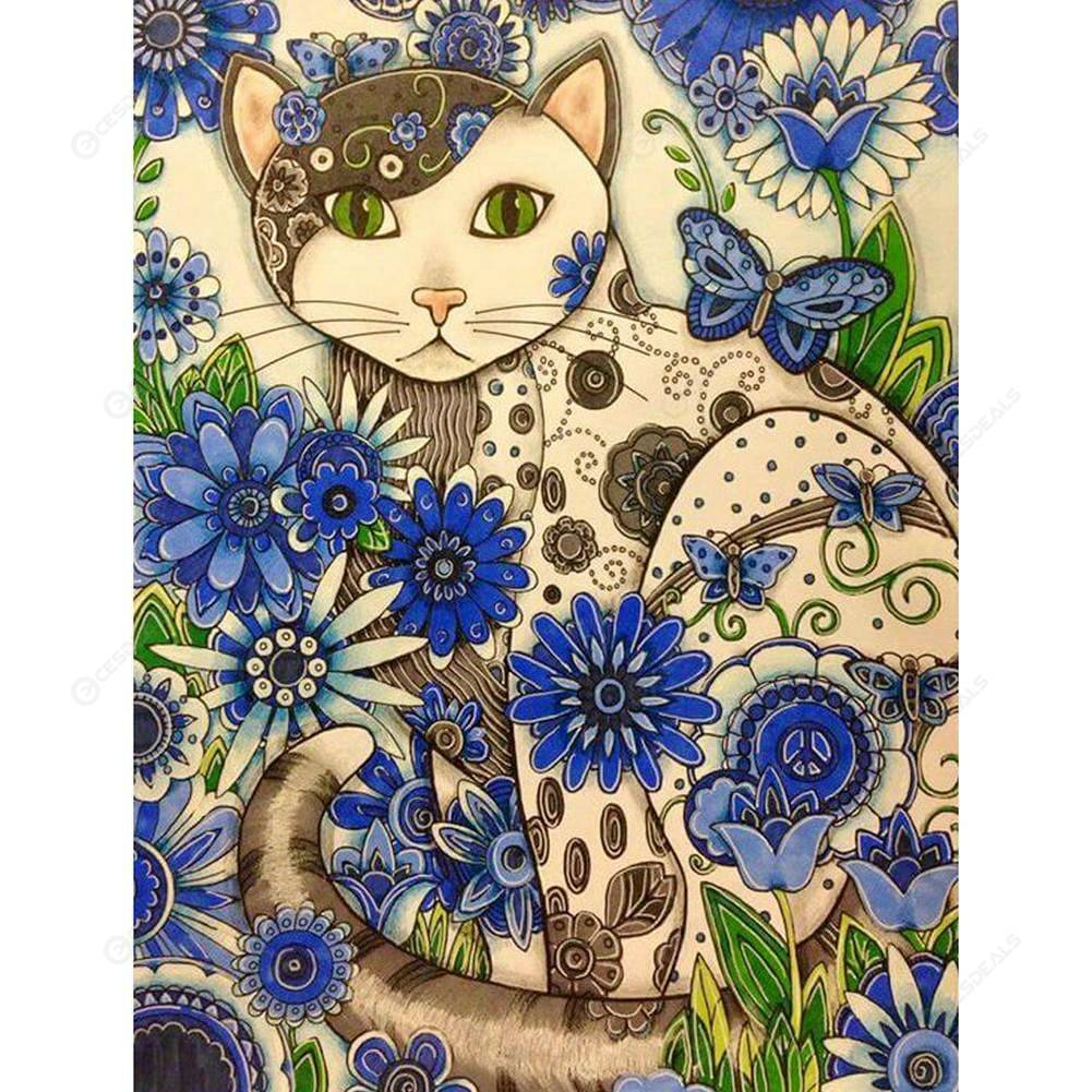 5D DIY Full Drill Diamond Painting Black Cat Cross Stitch Embroidery Mosaic Gift