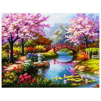 5D DIY Full Drill Diamond Painting Park View Cross Stitch Embroidery Mosaic