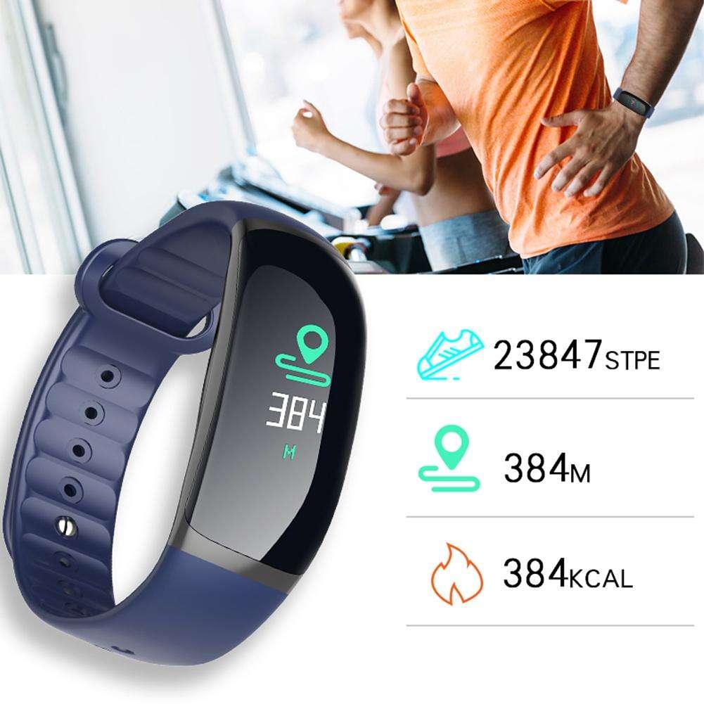B70 IP67 Waterproof Heart Rate Blood Pressure Oxygen Smart Bracelet (Blue)